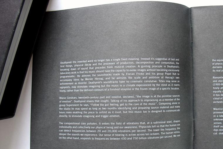 Deathprod Booklet