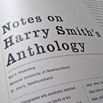 Harry Smith anthology cover design