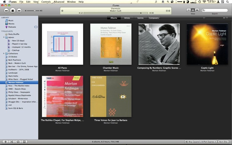 grid view in iTunes
