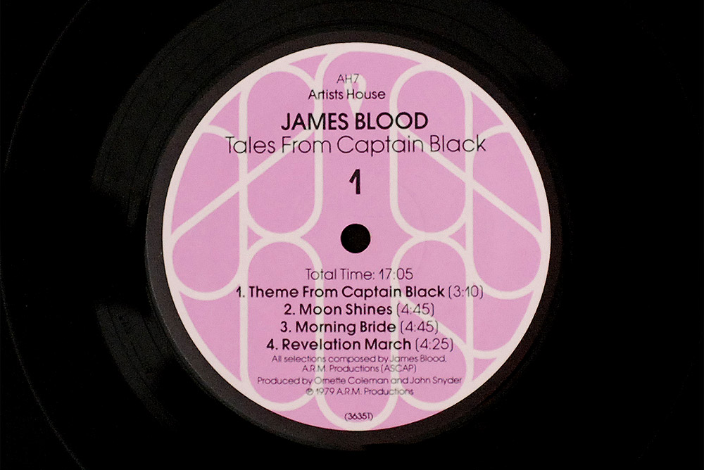 James Blood [Ulmer] - Tales of Captain Black